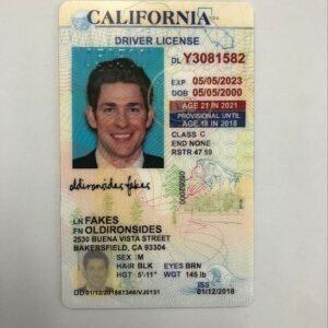 California Driver License Under 21(Old CA U21) – California fake id