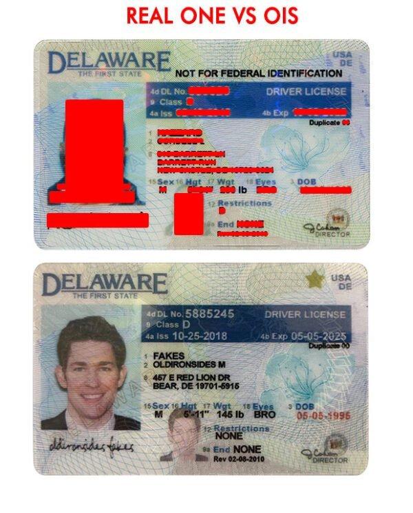 Delaware Driver License(New DE O21) - Delaware fake id