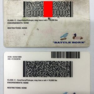 Nevada(NV) Driver License – Nevada(NV) FAKE ID